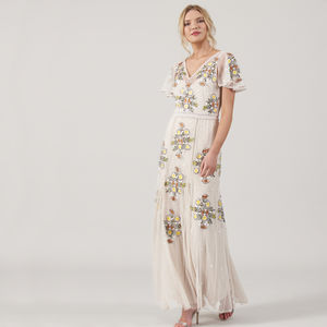 Clea Embellished Cap Sleeve Maxi Dress - sale