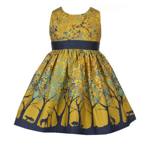 Martha Mustard Forest Dress - dresses