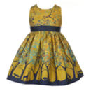 Martha Mustard Forest Dress