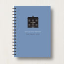 notebook in dark blue