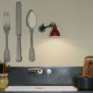 Cutlery Kitchen Walls Backsplash Wallpaper