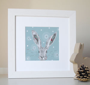 Hampshire Holly Hare Giclee Print
