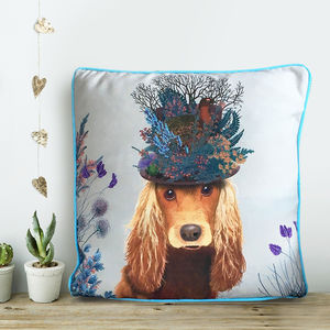 Cocker Spaniel Cushion, The Milliners Dogs - bedroom