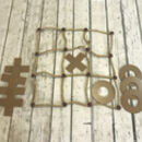 Deluxe Wooden Noughts And Crosses Game