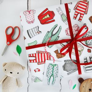 Baby's First Christmas Wrapping Paper Set