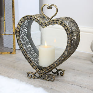 Heart Of The East Loveheart Candle Lantern - candles & home fragrance