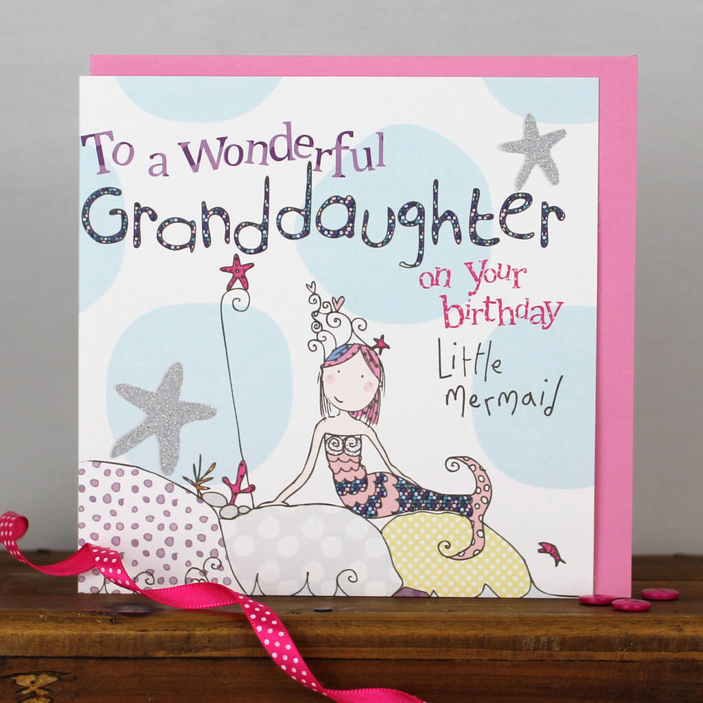 Granddaughter Birthday Card By Molly Mae