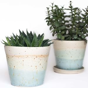 Handmade Speckled Ceramic Planter - pots & planters
