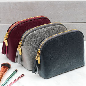 Luxury Leather Cosmetic Or Toiletries Bag - gifts for her