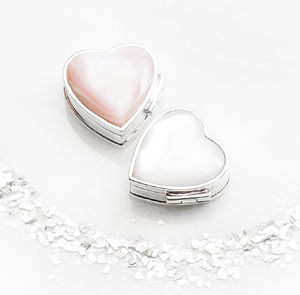 Personalised Sterling Silver Heart Box