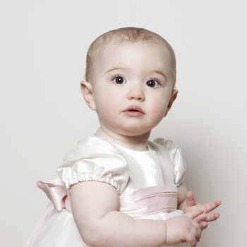 Christening Gown - Princess with pink sash