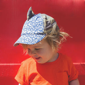 Children's UV Baseball Hat With Shark Fin - gifts for children