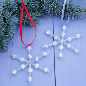 Handmade Hanging Glass Snowflake Christmas Decoration