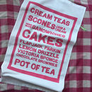 Cream Teas Menu Tea Towel