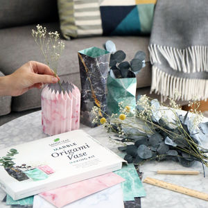 Marble Origami Vase Making Kit - gifts for her