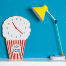 Popcorn Glow In The Dark Kids Clock