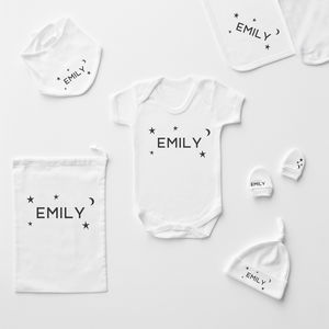 Starry Night Personalised Baby Gift Set - baby care