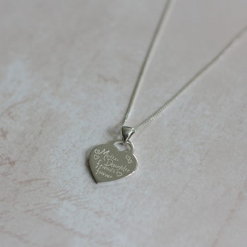 Mother And Daughter Sterling Silver Pendant