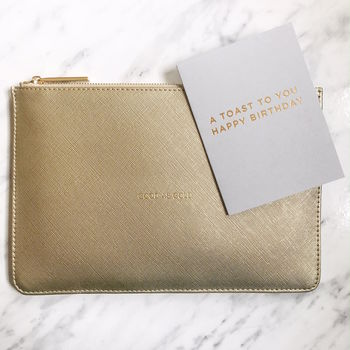 Good As Gold Slogan Clutch With Mini Card