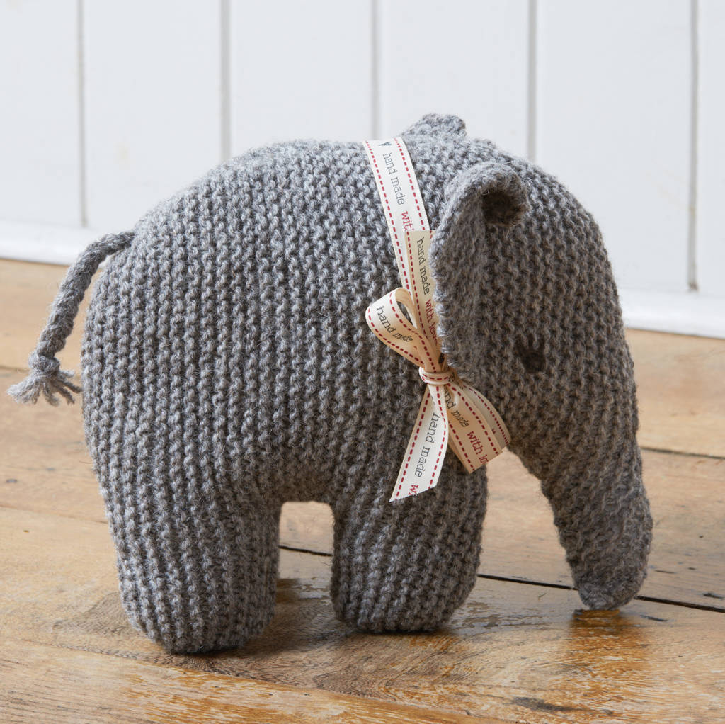 limited edition \'cecily\' vintage elephant knitting kit by ...