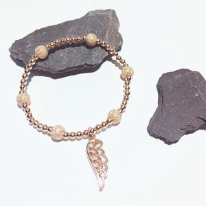 Rose Gold And Sterling Silver Angel Wing Bracelet - bracelets & bangles