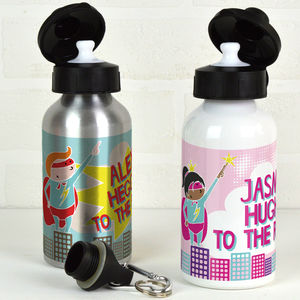 Personalised Water Bottle Super Hero - flasks & waterbottles