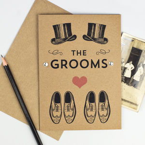 The Grooms Wedding Card