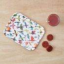 Birds Birch Wood Breakfast Tray