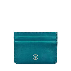 Personalised Women's Leather Card Case 'Savona Nappa'