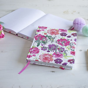 Floral Personalised Notebook