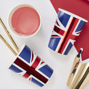 Union Jack Foiled Party Paper Cups Eight Pack