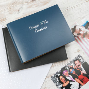 Happy 30th Birthday Leather Photo Album - albums & guest books