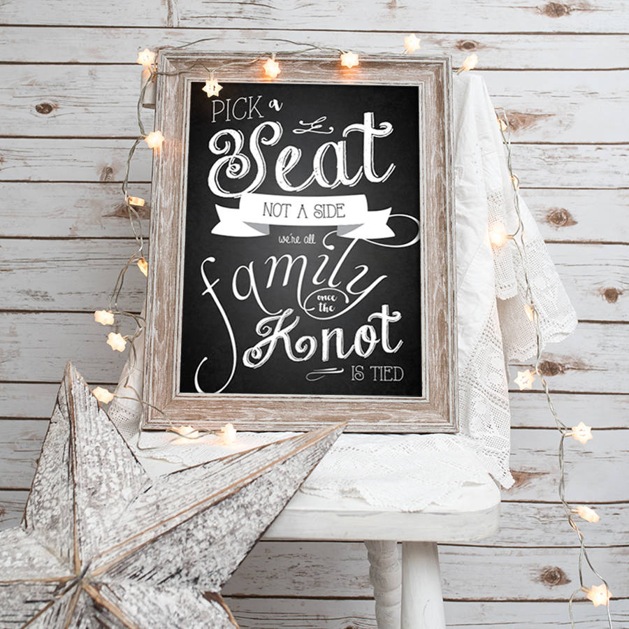 5a8ce687bec03b pick a seat not a side  chalkboard wedding print by anon design ...