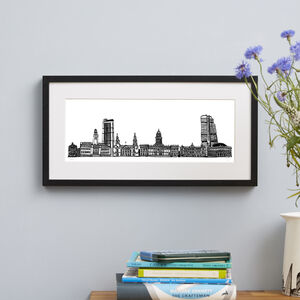 Leeds Skyline Screen Print