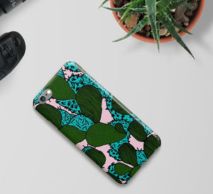 Abstract Cactus Print Phone Case