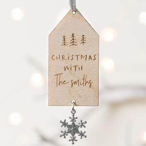 'Christmas With The…' Personalised Decoration - personalised