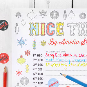 Santa's Colour In Nice List Advent Calendar - advent calendars