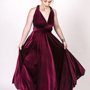 Velour Multiway Wrap Maxi Dress - bridesmaid dresses