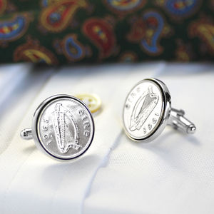 Hallmarked Silver Lucky Irish Sixpence Cufflinks - view all new