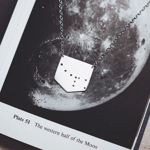 Ursa Minor Little Bear Constellation Necklace