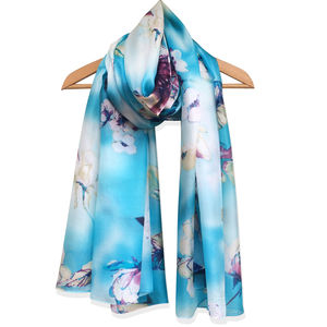 Large 'Blossom' Pure Silk Scarf - summer sale