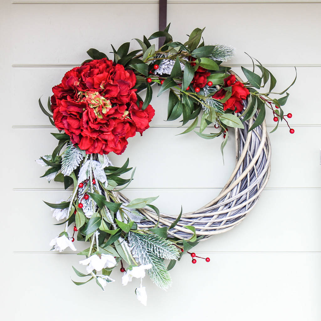 the red berry christmas wreath by the artificial florist