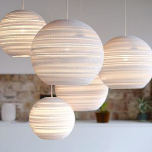 White Moon Scrap Lights - pendant lights