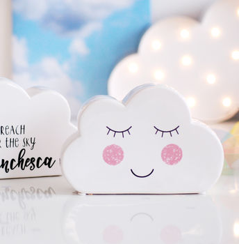 Personalised Cloud Childrens Moneybox