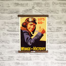 Retro World War Two Wings For Victory Print