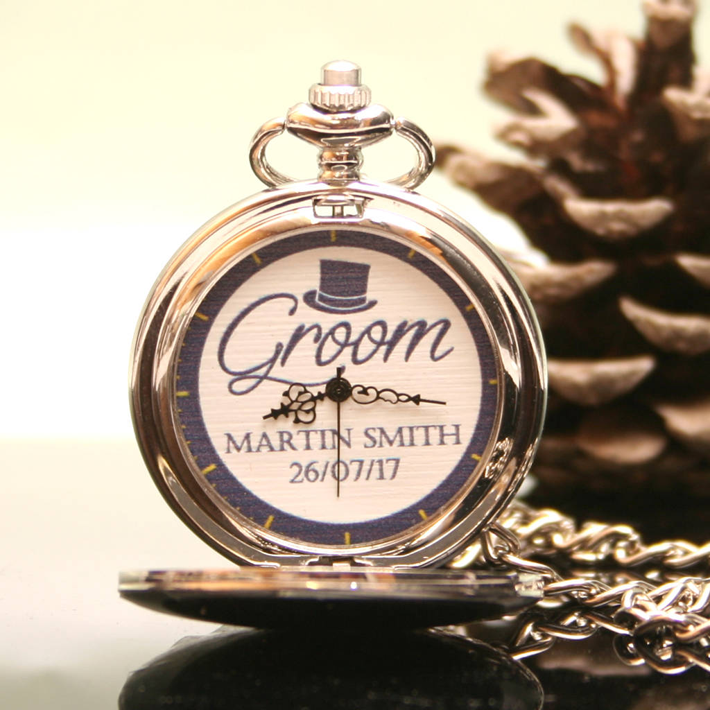 Groom's Personalised Pocket Watch