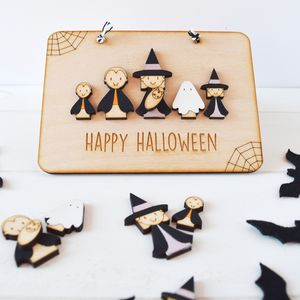 Personalised Halloween Family Sign - party decorations