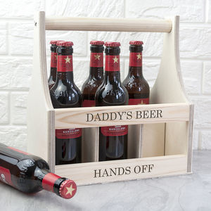 Personalised Wooden Beer Trug For Him - wine racks & storage
