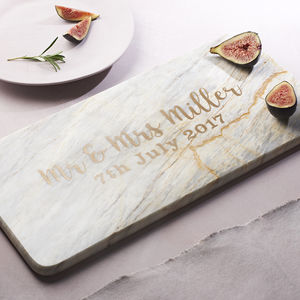 Marble Personalised Wedding Script Board
