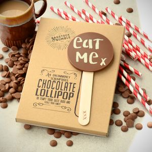 'Eat Me' Belgian Chocolate Lolly - chocolates & confectionery